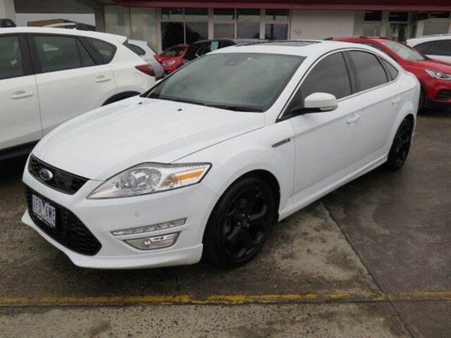 Used Ford Mondeo MC Titanium PwrShift EcoBoost, 2014 Ford Mondeo MC Titanium PwrShift EcoBoost White 6 Speed Sports Automatic Dual Clutch Hatchback