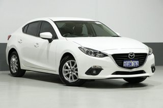 2015 Mazda 3 BM Maxx White 6 Speed Manual Sedan.