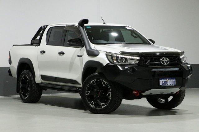 Used Toyota Hilux GUN126R Rugged X (4x4), 2018 Toyota Hilux GUN126R Rugged X (4x4) Pearl White 6 Speed Automatic Dual Cab Utility