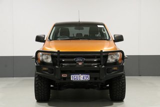 2015 Ford Ranger PX XL 3.2 (4x4) Orange 6 Speed Manual Dual Cab Utility.