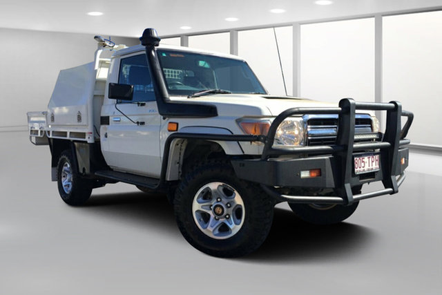 Used Toyota Landcruiser VDJ79R MY12 Update GXL (4x4), 2013 Toyota Landcruiser VDJ79R MY12 Update GXL (4x4) French Vanilla 5 Speed Manual Cab Chassis