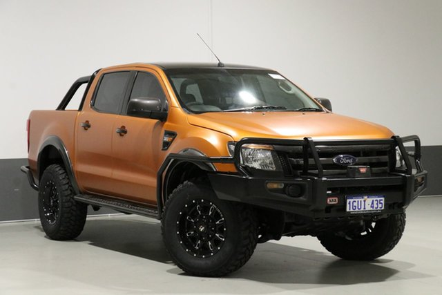 Used Ford Ranger PX XL 3.2 (4x4), 2015 Ford Ranger PX XL 3.2 (4x4) Orange 6 Speed Manual Dual Cab Utility