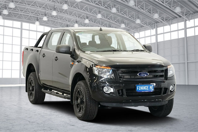 Used Ford Ranger PX XLS Double Cab, 2014 Ford Ranger PX XLS Double Cab Black 6 Speed Sports Automatic Utility