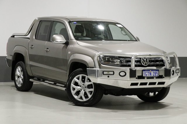 Used Volkswagen Amarok 2H MY17 V6 TDI 550 Ultimate, 2017 Volkswagen Amarok 2H MY17 V6 TDI 550 Ultimate Beige Metallic 8 Speed Automatic Dual Cab Utility