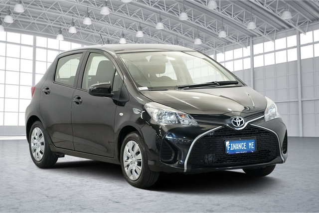 Used Toyota Yaris NCP130R Ascent, 2015 Toyota Yaris NCP130R Ascent Black 4 Speed Automatic Hatchback