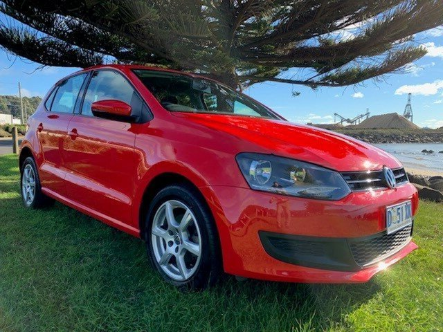Used Volkswagen Polo 6R MY14 77TSI Comfortline, 2014 Volkswagen Polo 6R MY14 77TSI Comfortline Red 6 Speed Manual Hatchback
