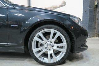 2011 Mercedes-Benz C-Class W204 MY11 Black 7 Speed Sports Automatic Sedan.