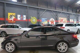 2011 Mercedes-Benz C-Class W204 MY11 Black 7 Speed Sports Automatic Sedan