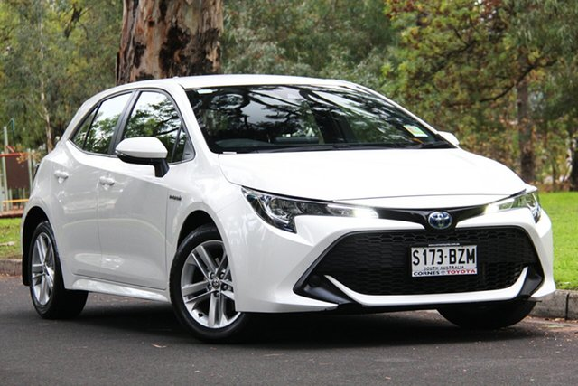 Demo Toyota Corolla ZWE211R Ascent Sport E-CVT Hybrid, 2019 Toyota Corolla ZWE211R Ascent Sport E-CVT Hybrid White 10 Speed Constant Variable Hatchback
