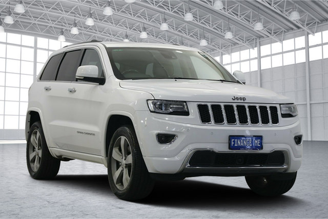 Used Jeep Grand Cherokee WK MY15 Overland, 2016 Jeep Grand Cherokee WK MY15 Overland White 8 Speed Sports Automatic Wagon