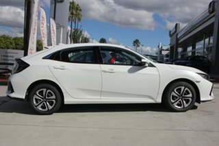 2019 Honda Civic 10th Gen MY18 VTi White Orchid 1 Speed Constant Variable Hatchback.