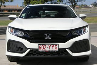 2019 Honda Civic 10th Gen MY18 VTi White Orchid 1 Speed Constant Variable Hatchback