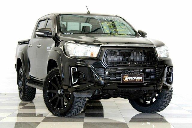 Used Toyota Hilux GUN126R SR (4x4), 2017 Toyota Hilux GUN126R SR (4x4) Black 6 Speed Manual Dual Cab Utility