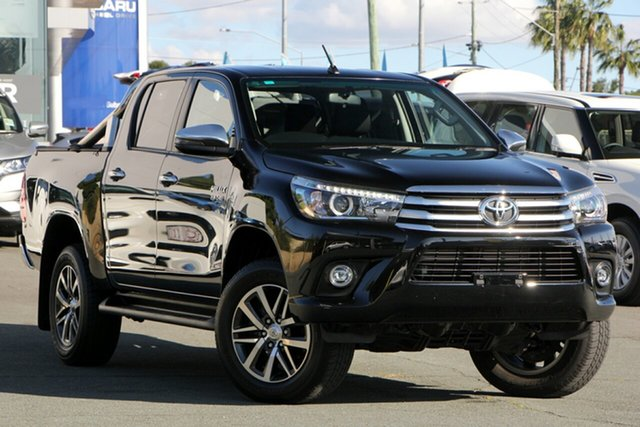Used Toyota Hilux GUN126R SR5 Extra Cab, 2017 Toyota Hilux GUN126R SR5 Extra Cab Black 6 Speed Manual Utility