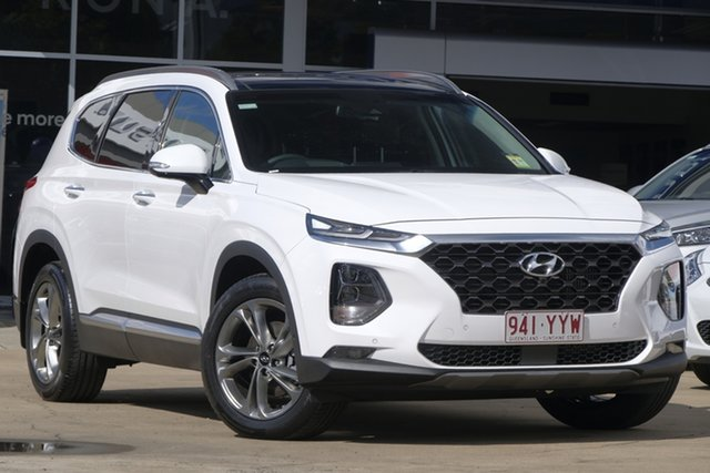 Demo Hyundai Santa Fe TM MY19 Highlander, 2018 Hyundai Santa Fe TM MY19 Highlander White Cream 8 Speed Sports Automatic Wagon