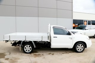 2009 Toyota Hilux KUN16R MY09 SR 4x2 White 5 Speed Manual Cab Chassis