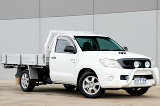 2009 Toyota Hilux KUN16R MY09 SR 4x2 White 5 Speed Manual Cab Chassis.
