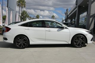 2019 Honda Civic 10th Gen MY19 RS Platinum White 1 Speed Constant Variable Hatchback.
