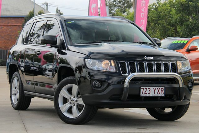 Used Jeep Compass MK MY12 Sport CVT Auto Stick, 2012 Jeep Compass MK MY12 Sport CVT Auto Stick Black 6 Speed Constant Variable Wagon
