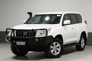 2012 Toyota Landcruiser Prado KDJ150R 11 Upgrade GXL (4x4) White 5 Speed Sequential Auto Wagon.
