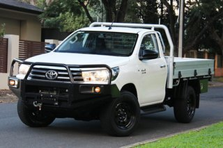 2015 Toyota Hilux GUN126R SR White 6 Speed Manual Cab Chassis.
