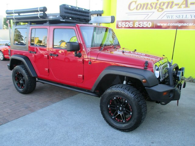Used Jeep Wrangler JK Unlimited Sport, 2008 Jeep Wrangler JK Unlimited Sport Red 4 Speed Automatic Softtop