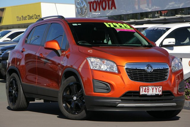 Used Holden Trax TJ MY16 Black, 2016 Holden Trax TJ MY16 Black Orange 6 Speed Automatic Wagon