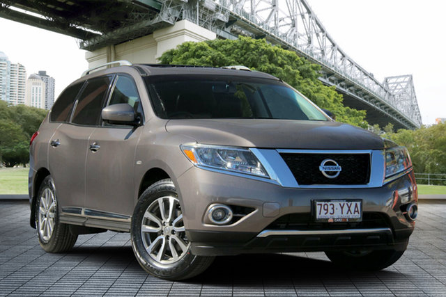 Used Nissan Pathfinder R52 MY14 ST-L X-tronic 4WD, 2013 Nissan Pathfinder R52 MY14 ST-L X-tronic 4WD Bonze/leather 1 Speed Constant Variable Wagon