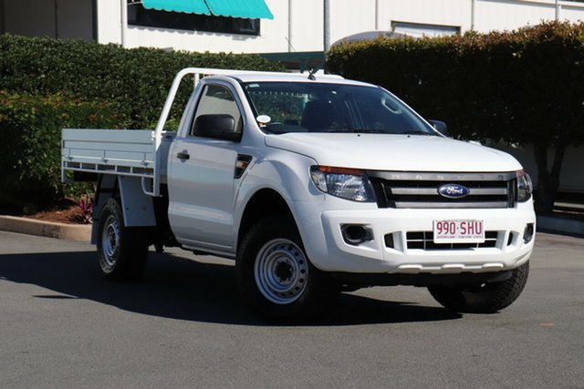 Used Ford Ranger PX XL, 2011 Ford Ranger PX XL White 6 Speed Manual Cab Chassis