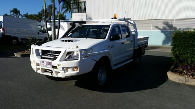 Used Toyota Hilux KUN26R MY12 SR Double Cab, 2013 Toyota Hilux KUN26R MY12 SR Double Cab Glacier 4 Speed Automatic Utility