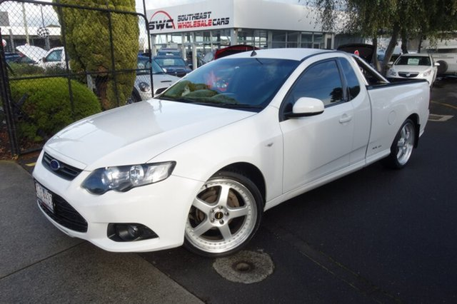 Used Ford Falcon FG MkII XR6 Ute Super Cab EcoLPi, 2012 Ford Falcon FG MkII XR6 Ute Super Cab EcoLPi White 6 Speed Sports Automatic Utility