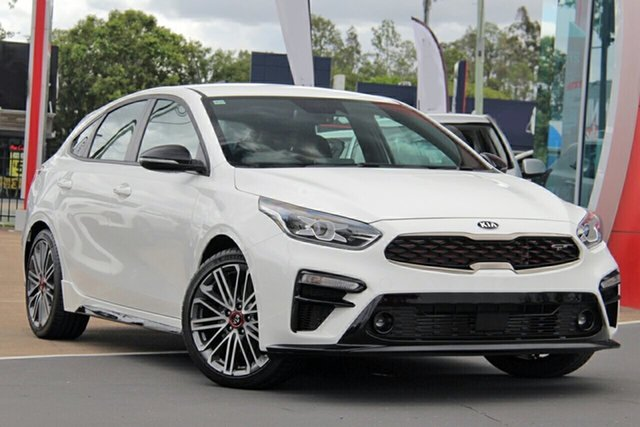 New Kia Cerato BD MY21 GT DCT St Marys, 2021 Kia Cerato BD MY21 GT DCT Clear White 7 Speed Sports Automatic Dual Clutch Hatchback