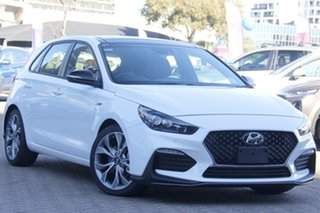 2020 Hyundai i30 PD.3 MY20 N Line D-CT Premium Polar White 7 Speed Sports Automatic Dual Clutch.