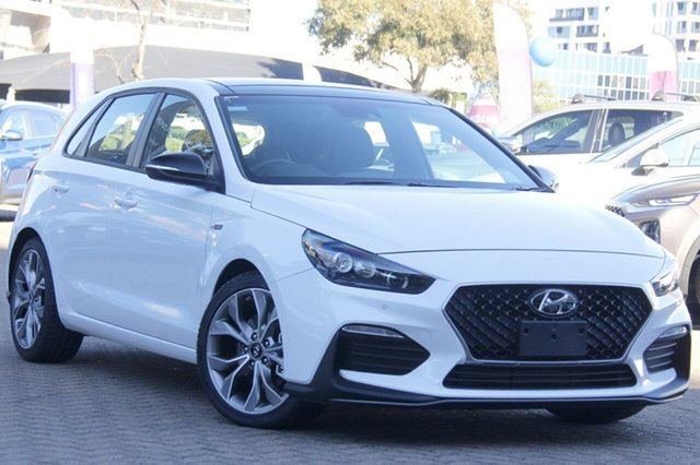 New Hyundai i30 PD.3 MY20 N Line D-CT Premium Epsom, 2020 Hyundai i30 PD.3 MY20 N Line D-CT Premium Polar White 7 Speed Sports Automatic Dual Clutch