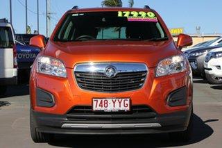 2016 Holden Trax TJ MY16 Black Orange 6 Speed Automatic Wagon.