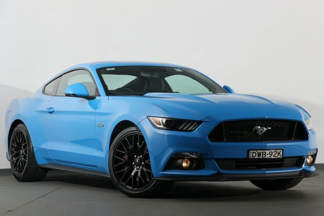 Used Ford Mustang FM 2017MY GT Fastback SelectShift, 2017 Ford Mustang FM 2017MY GT Fastback SelectShift Grabber Blue 6 Speed Sports Automatic Fastback