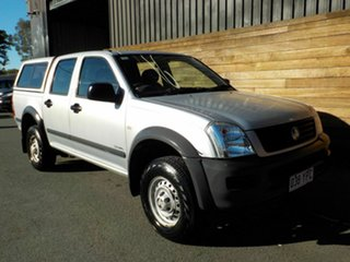 2004 Holden Rodeo RA LX Crew Cab 4x2 Silver 4 Speed Automatic Utility.
