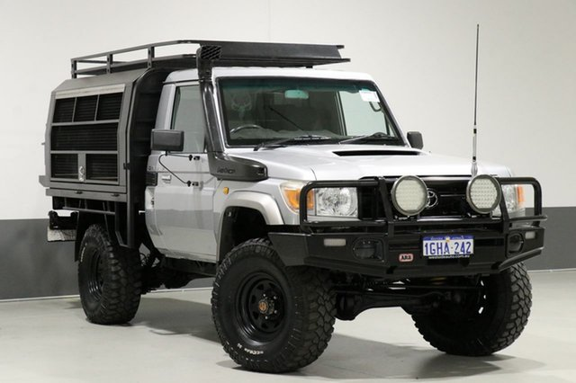 Used Toyota Landcruiser VDJ79R MY12 Update GX (4x4), 2012 Toyota Landcruiser VDJ79R MY12 Update GX (4x4) Silver 5 Speed Manual Cab Chassis
