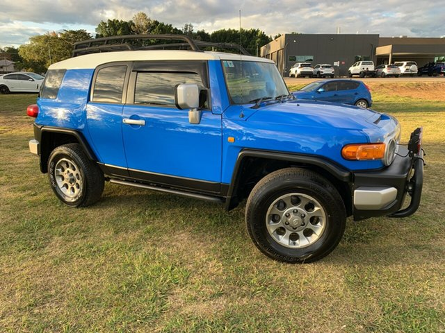 Used Toyota FJ Cruiser GSJ15R , 2012 Toyota FJ Cruiser GSJ15R Voodoo Blue 5 Speed Automatic Wagon