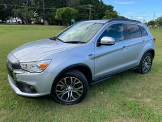 2016 Mitsubishi ASX XC MY17 LS (2WD) Silver Continuous Variable Wagon.
