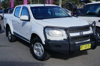 2013 Holden Colorado RG MY14 LX Crew Cab White 6 Speed Sports Automatic Utility.