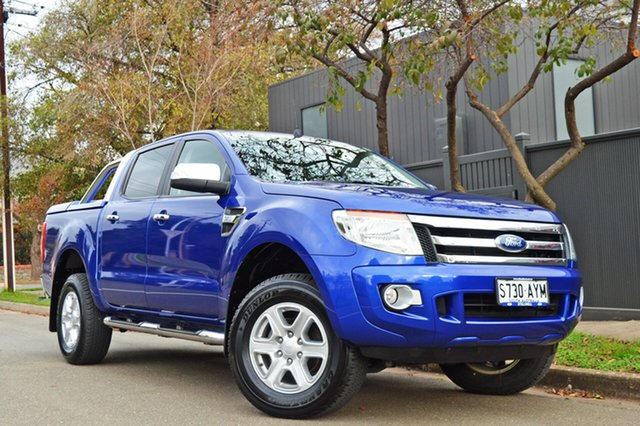 Used Ford Ranger PX XLT Double Cab, 2013 Ford Ranger PX XLT Double Cab Blue 6 Speed Manual Utility