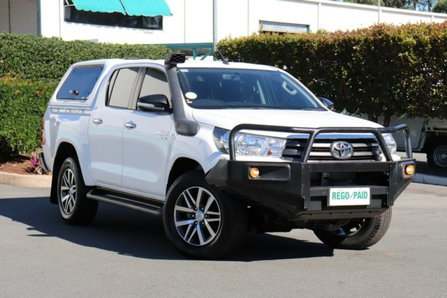 Used Toyota Hilux GUN126R SR Double Cab, 2015 Toyota Hilux GUN126R SR Double Cab Glacier 6 Speed Manual Utility
