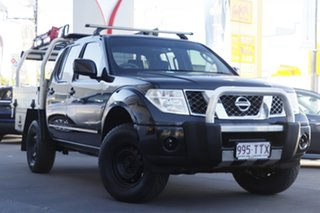 2013 Nissan Navara D40 S8 RX Black 6 Speed Manual Cab Chassis.