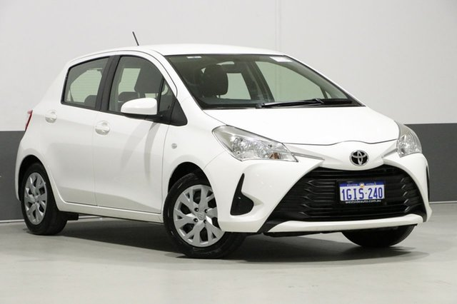 Used Toyota Yaris NCP130R MY17 Ascent, 2017 Toyota Yaris NCP130R MY17 Ascent White 4 Speed Automatic Hatchback