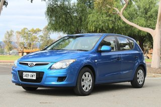 2011 Hyundai i30 FD MY11 SX Met Blue/cloth 4 Speed Automatic Hatchback.