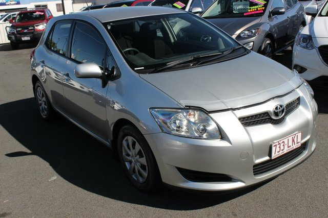 Used Toyota Corolla ZRE152R Ascent, 2008 Toyota Corolla ZRE152R Ascent Millenium Silver 4 Speed Automatic Hatchback