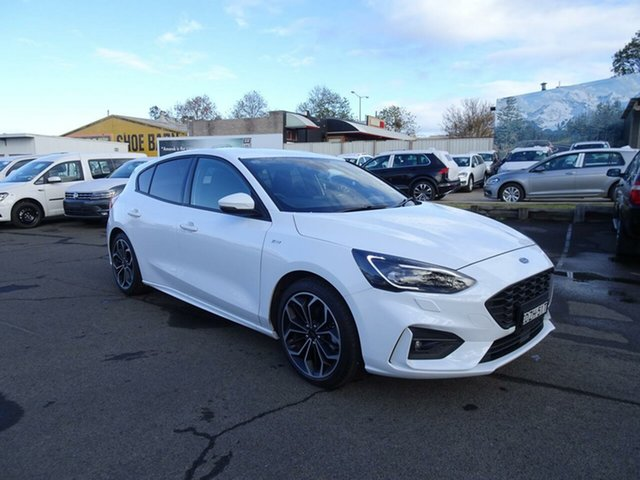 Used Ford Focus SA 2019MY ST-Line, 2018 Ford Focus SA 2019MY ST-Line Frozen White 8 Speed Automatic Hatchback