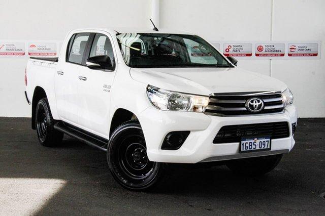 Used Toyota Hilux GUN126R SR (4x4), 2016 Toyota Hilux GUN126R SR (4x4) Glacier White 6 Speed Automatic Dual Cab Utility