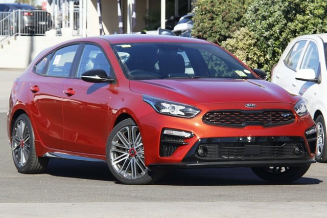 New Kia Cerato BD MY21 GT DCT St Marys, 2020 Kia Cerato BD MY21 GT DCT Sunset Orange 7 Speed Sports Automatic Dual Clutch Hatchback